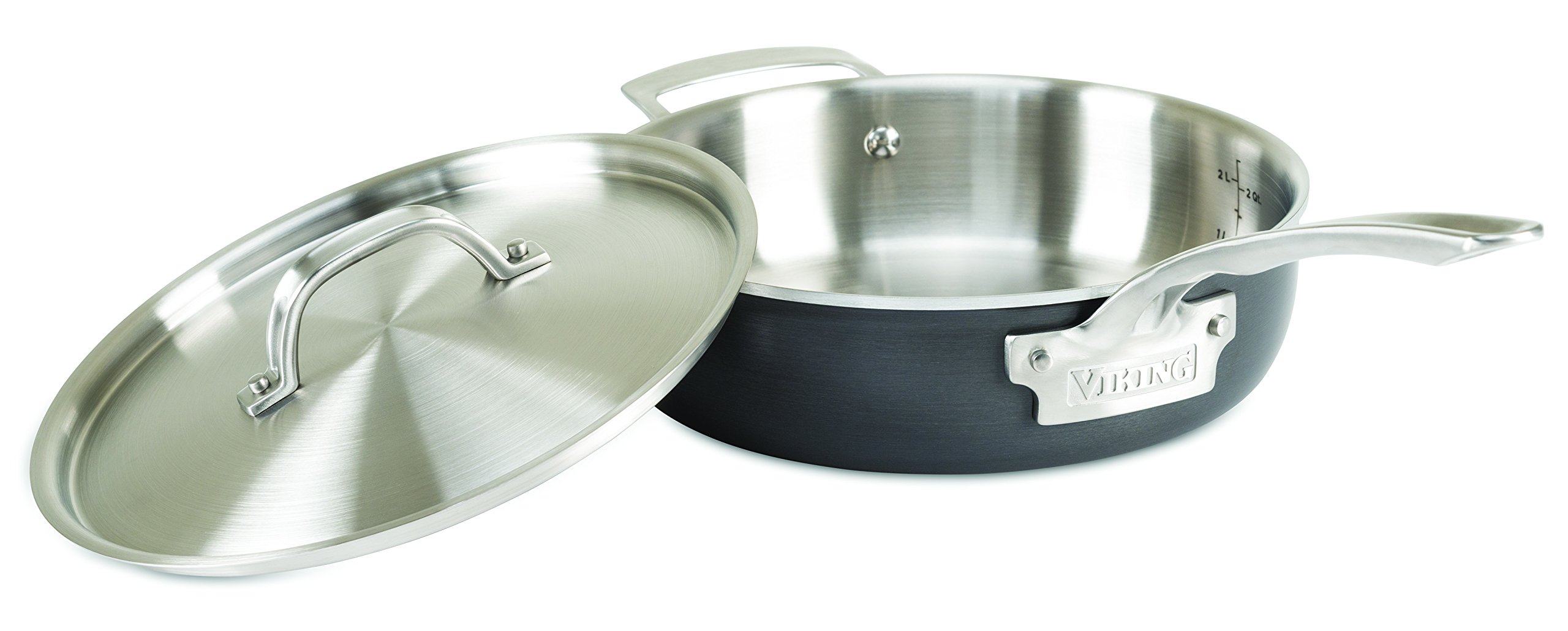 Viking 5-Ply Hard Stainless Sauté Pan with Hard Anodized Exterior, 3 Quart