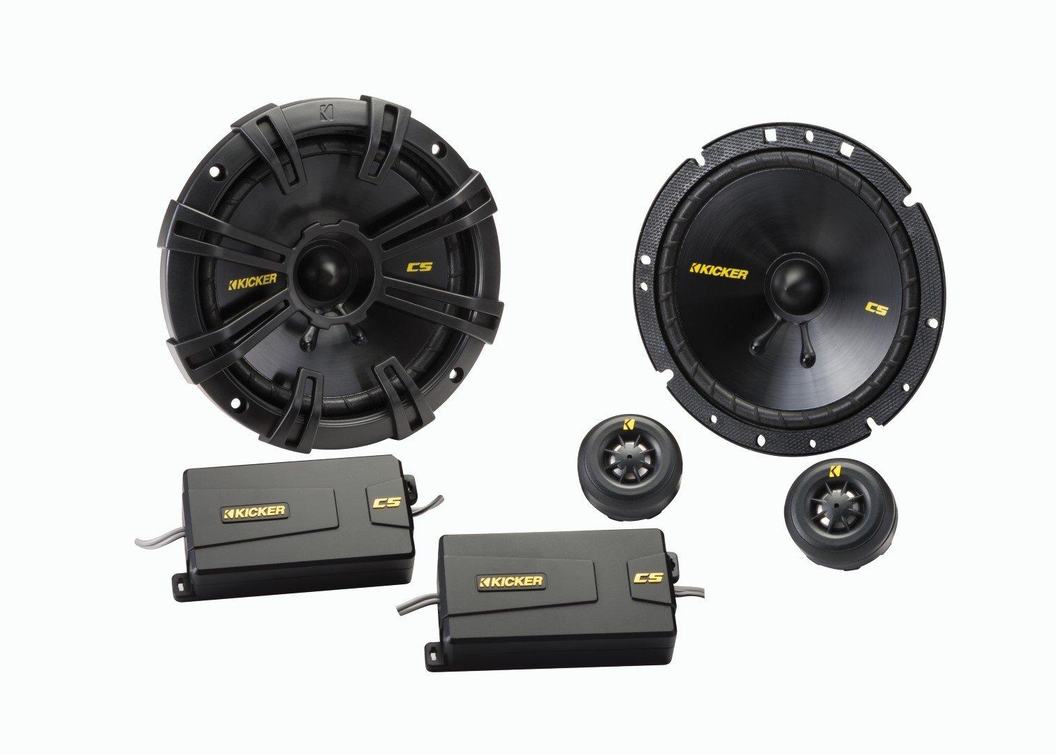 Kicker 40CSS674 6-3/4'' Component Speaker - Pair (Black)