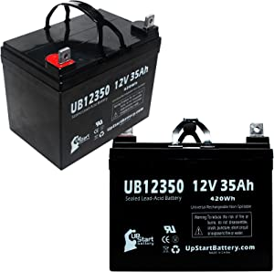 2 Pack Replacement for MK Battery MU1SLDG Battery - Replacement UB12350 Universal Sealed Lead Acid Battery (12V, 35Ah, 35000mAh, L1 Terminal, AGM, SLA)