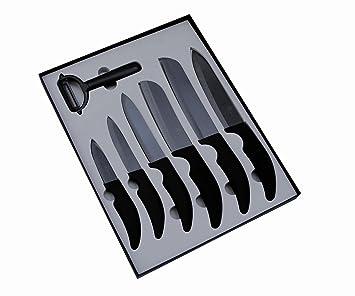 pradel excellence sc007 coffret vitrine 6 couteaux de cuisine et 1 plucheur - Coffret Couteau Ceramique