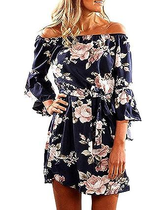 cheerful-shop-uk Womens Summer dress De Largo Faldas Plisadas para ...