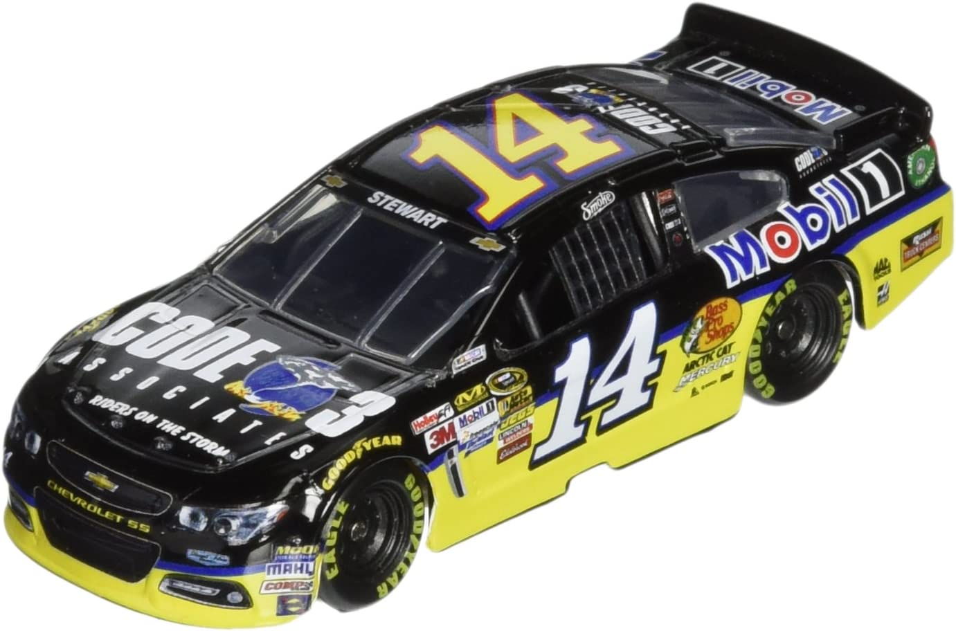1:64 Scale Tony Stewart #14 Code 3 Associates 2014 Chevrolet SS NASCAR Diecast Car