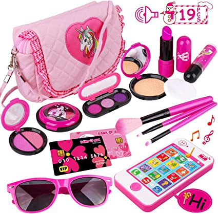 4 Pieces Doll Beauty /& Make Up Accessories Kids Pretend Play Toy Girls Gifts