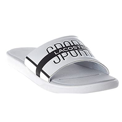 decd1a906654 Lacoste Men s L.30 Slide 218 2 Light Grey White 11 ...