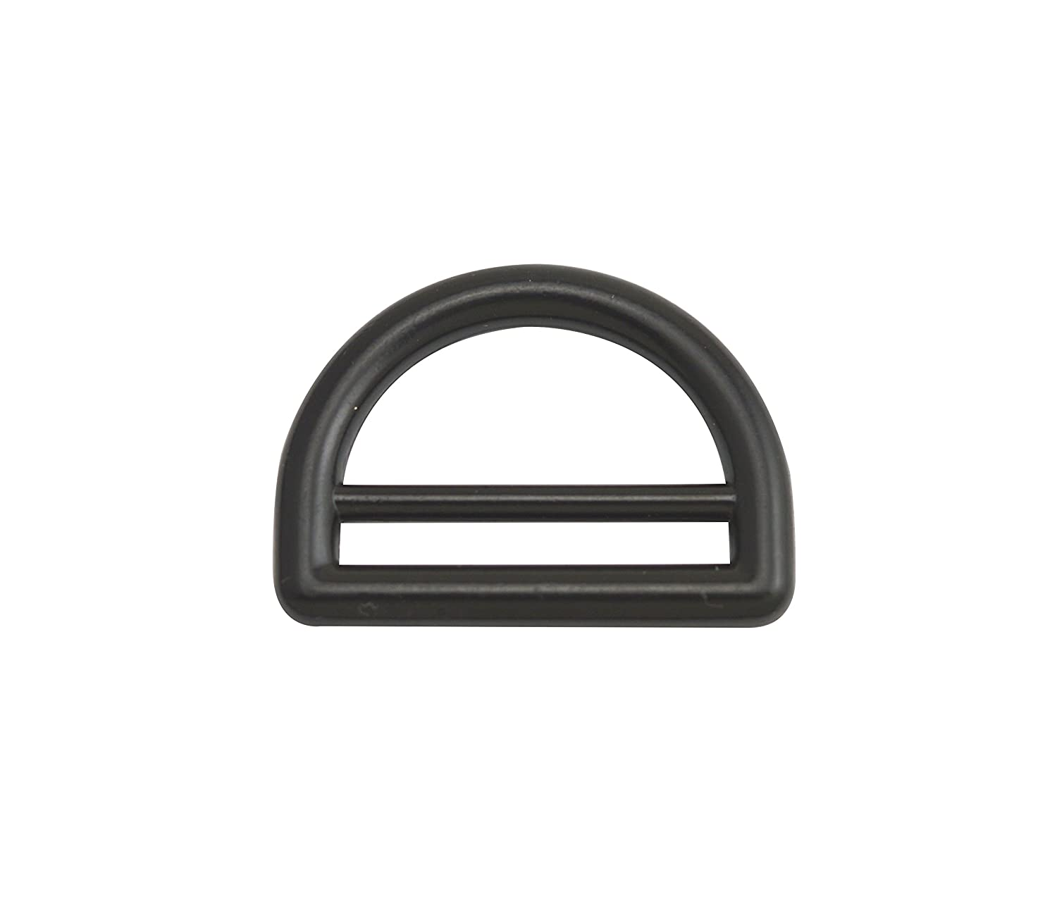 Wuuycoky 1 Inner Diameter Zinc Alloy Black Double Bar D Ring Buckles D-Ring for Webbing Strapping Pack of 10