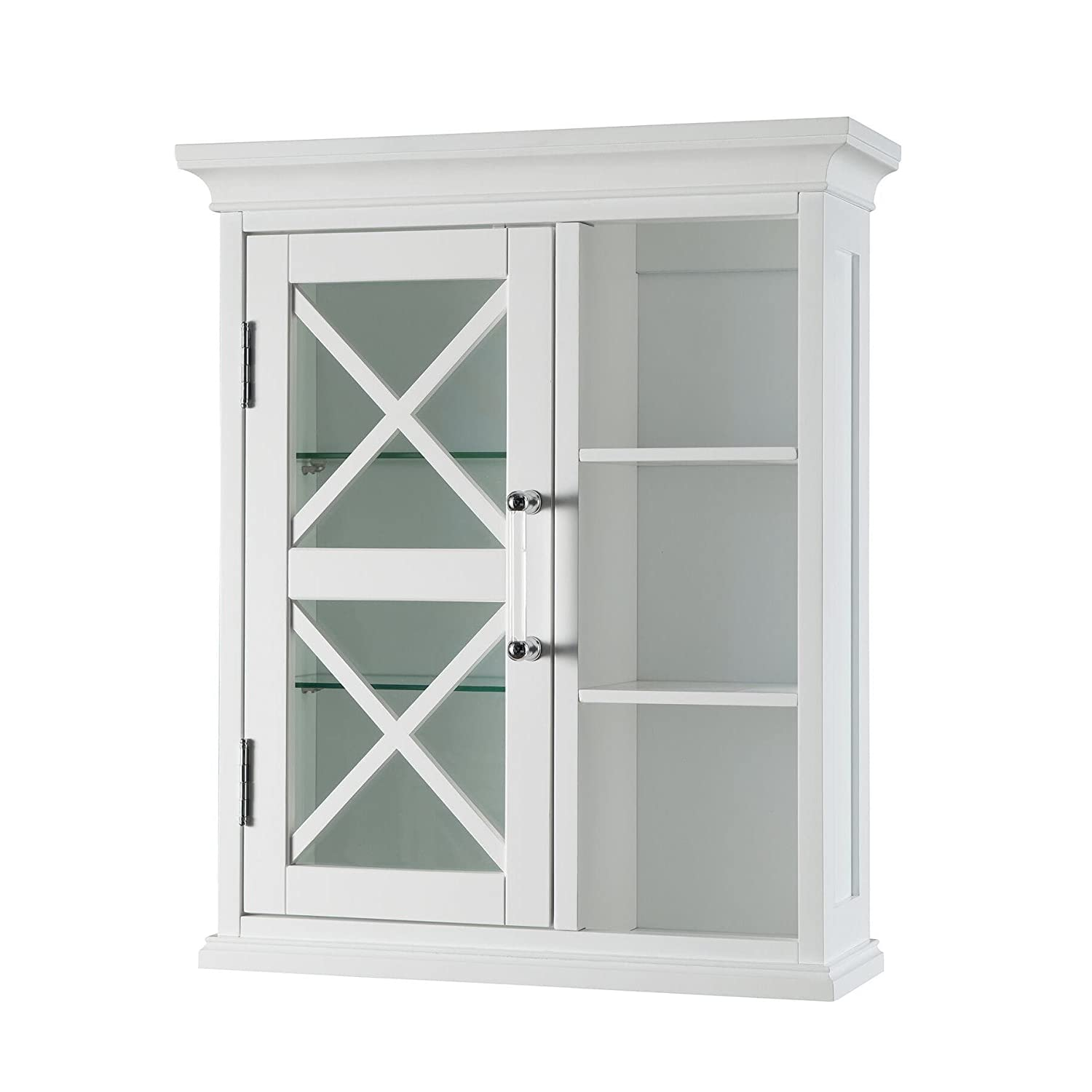 Elegant Home Fashions Grayson Wall Cabinet with one Door and Cubbies by