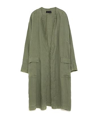 4e029e6b21 Zara Women Oversized Linen Jacket 4043 103 at Amazon Women s Coats Shop