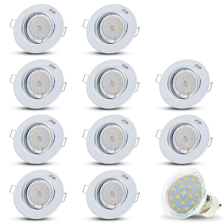 LED Einbaustrahler Schwenkbar DECORO Rund (Weiss) Inkl. 20 20 20 X 4W LED Warmweiss 230V IP20 Deckenstrahler Einbauleuchte Deckeneinbaustrahler Einbauspot Deckeneinbauleuchte Deckenspot Drehbar 3a4e9a
