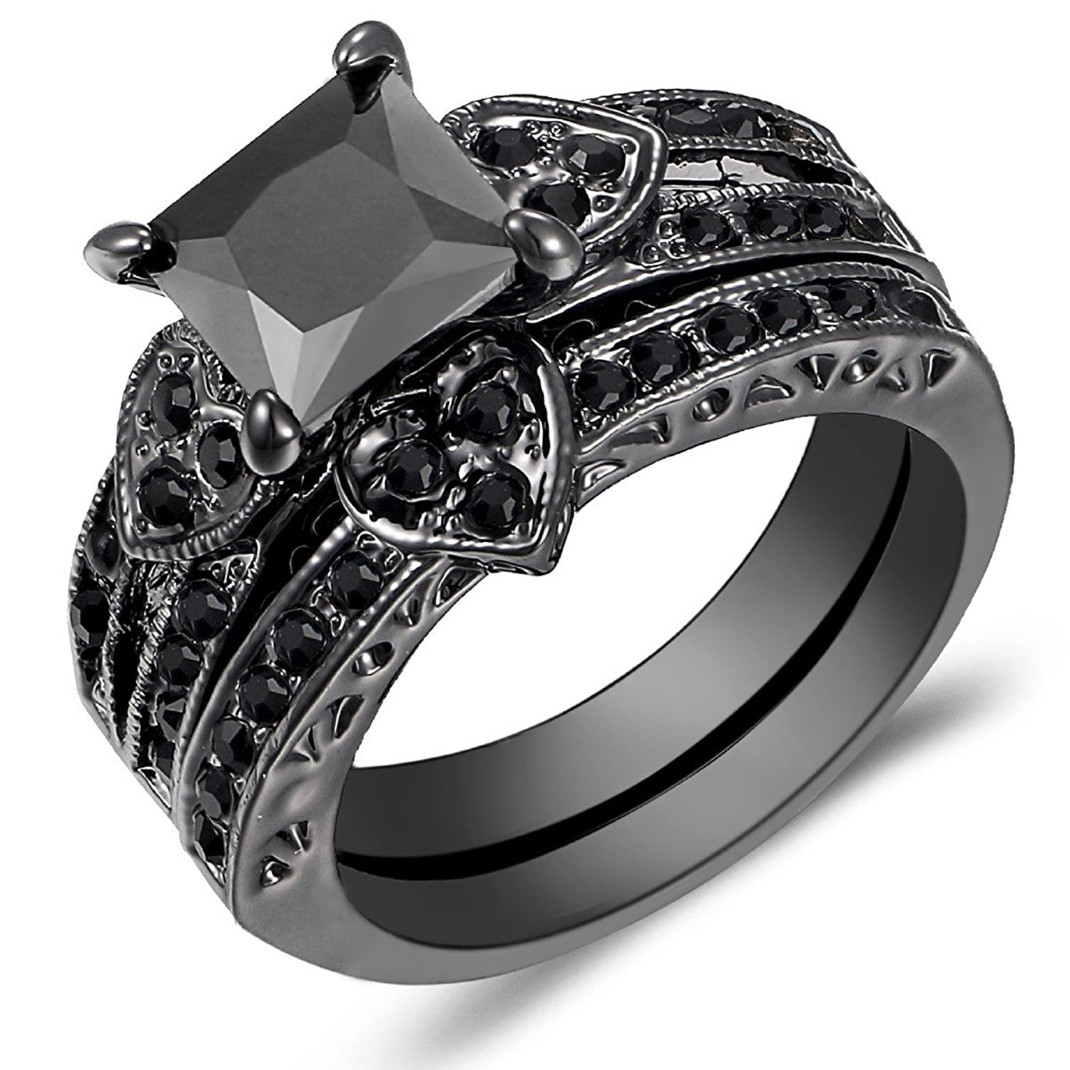 band lava ring black white inlay zoom and riverstone carbide loading rings tungsten wedding