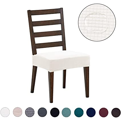Astounding Dining Chair Covers 4 Pack Water Repellent Easy To Install High Stretch Dining Room Chair Slipcover Protector Shield For Dog Cat Pets Off White Machost Co Dining Chair Design Ideas Machostcouk