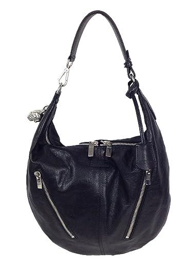 c4d5d0a1f8a84 Amazon.com: Alexander McQueen Padlock Small Biker Leather Hobo Bag, Black:  Shoes