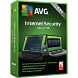 AVG Technologies AVG Internet Security 2018, Unlimited Devices, 2 Years [Key Card]