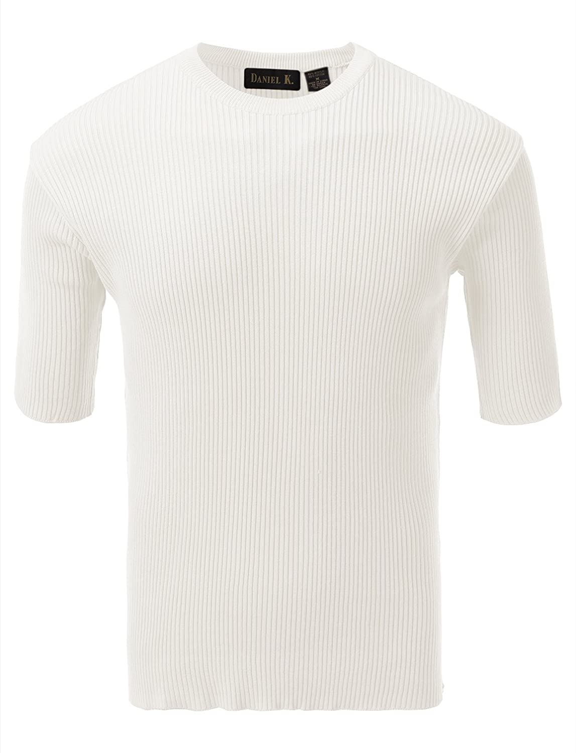 7 Encounter Men's Crewneck Short Sleeve Small Ribbed Sweater