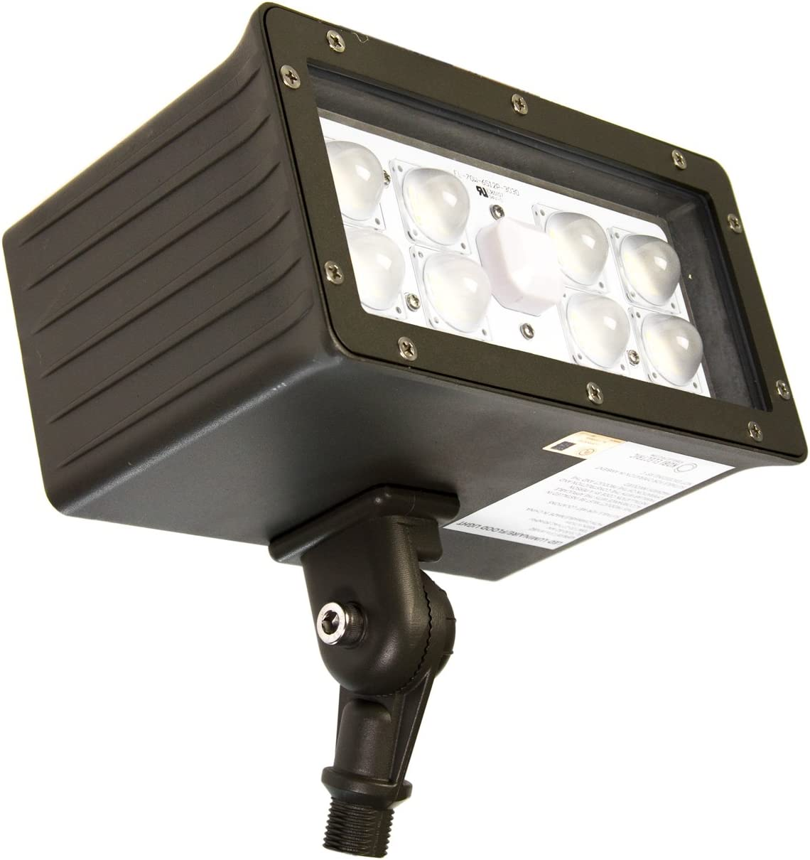 Kobi Electric FL-45-MV-BZ K0P7 Flood LED Fixture, 45W, 120-277V, Power Factor gt0.90, CRI gt80,5000K, Bronze