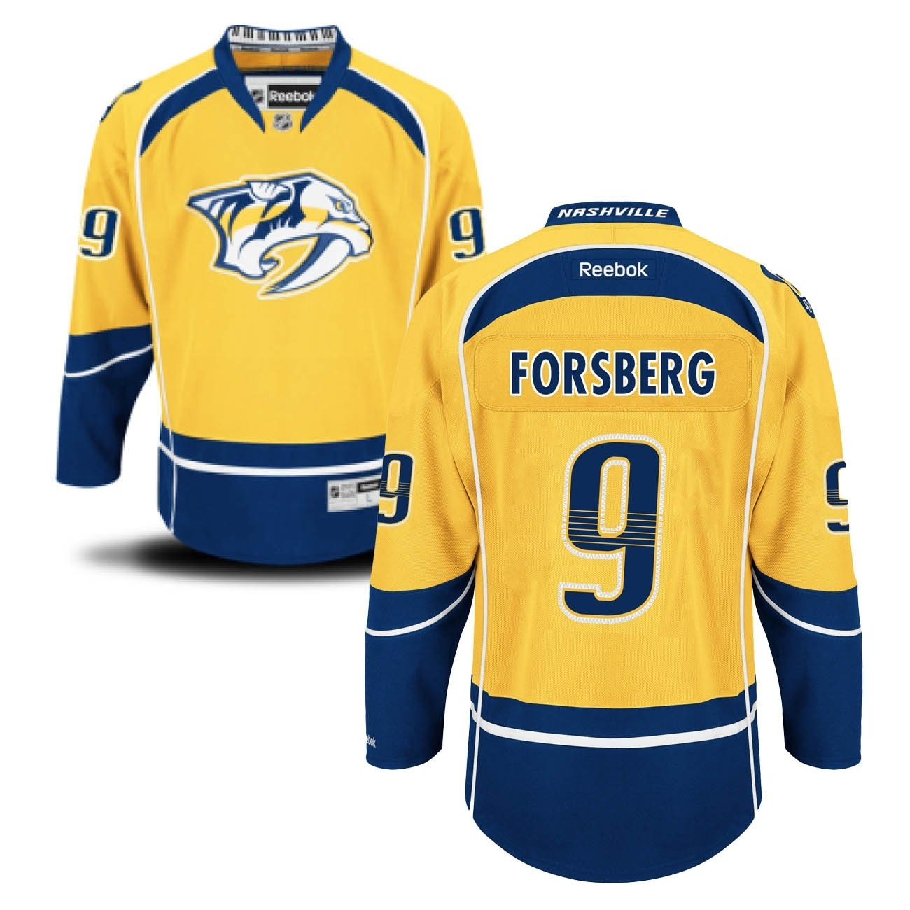 on sale 846f2 648ac Reebok Nashville Predators Filip Forsberg #9 NHL Jersey Home ...