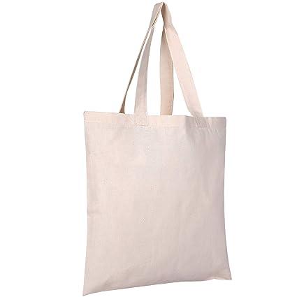 amazon com 25 pack bulk cotton canvas tote bags reusable grocery