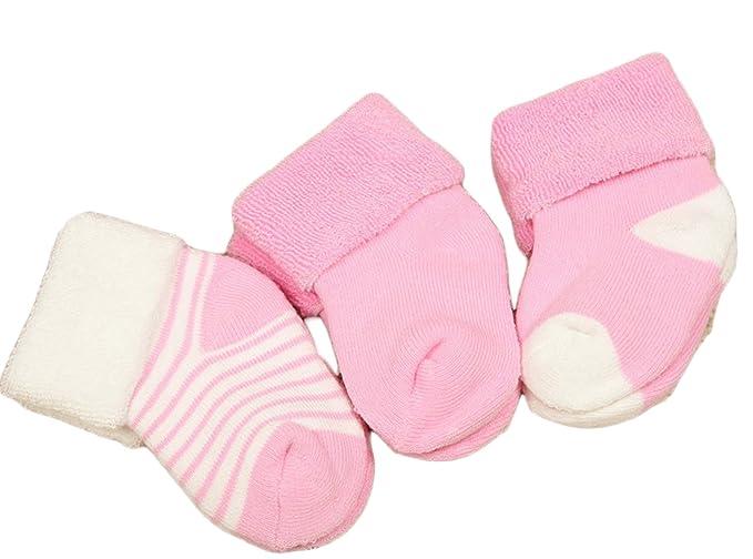 Lian estilo Unisex niños 3 pares pack calcetines de algodón peinado 0 – 24 M -