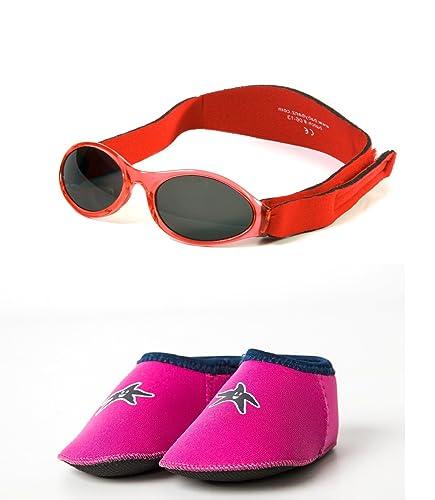 dec7d69e7370a9 Yoccoes - Lunettes de Soleil - Bébé (Fille) 0 à 24 Mois Red Sunglasses