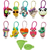 Crenics Mini 30ml Assorted Silicone Bottles Holder Detachable Kids Different Cartoon Travel Portable Plastic Leak Proof Keych