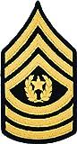 CSM E-9 Army Chevrons - Gold on Blue