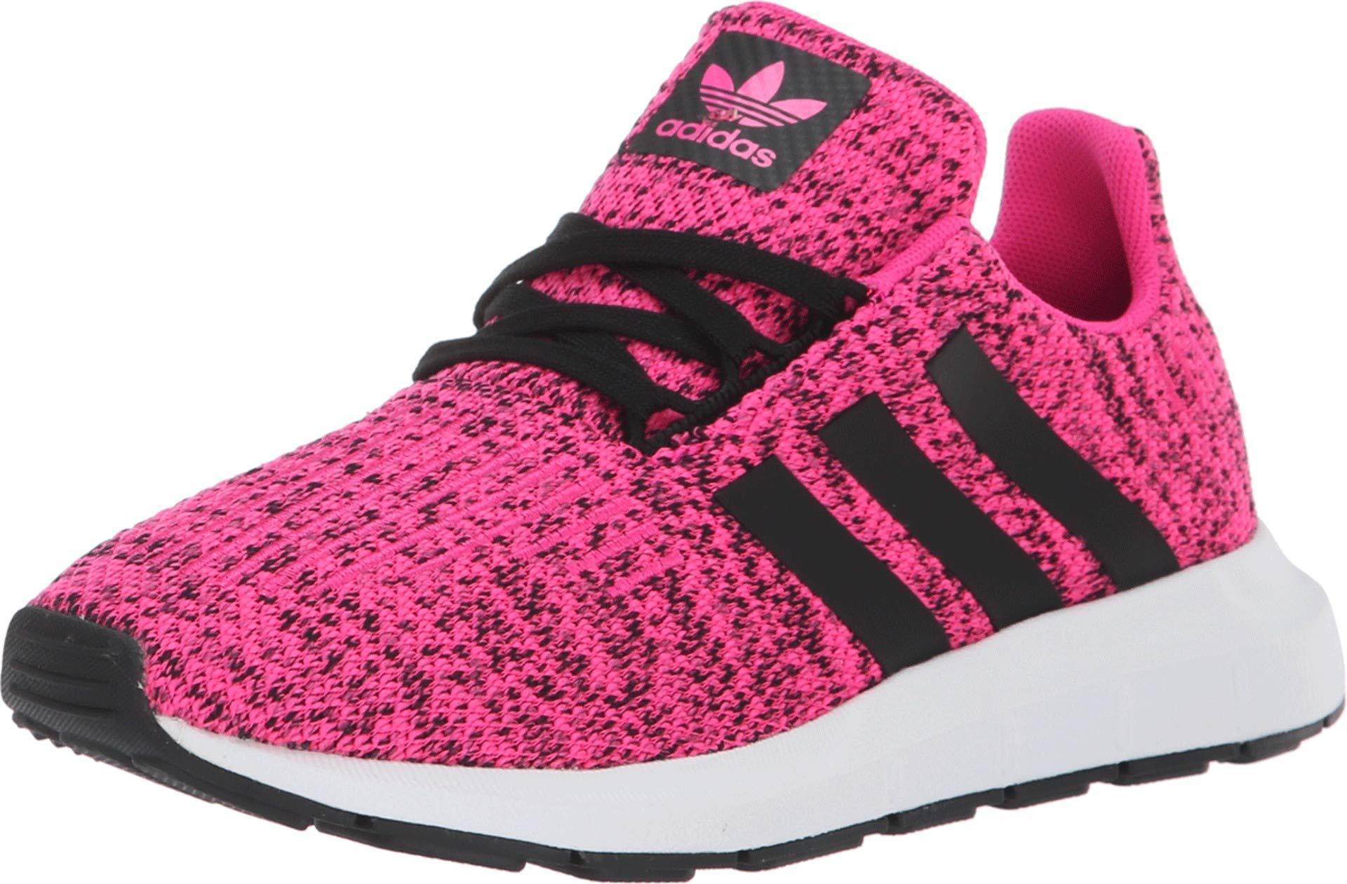 adidas Originals Kids Girl's Swift Run C (Little Kid) Shock Pink/Black 12 M US Little Kid