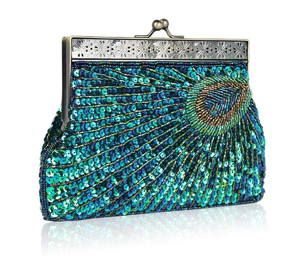 LU KU Hand Perlen Tasche Dinner-Tasche Retro-Tasche Knappe Tasche Handtasche Tasche Dinner-Paket Multi-Farbe optional B07Q4PGK93 Rucksackhandtaschen Für Ihre Wahl