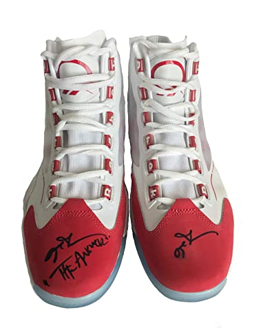 ALLEN IVERSON SIGNED Q96 REEBOK SHOES INSCRIBED