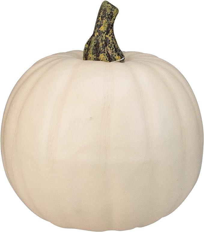 "Northlight 8.5"" Cream White Pumpkin Fall Harvest Table Top Decoration"