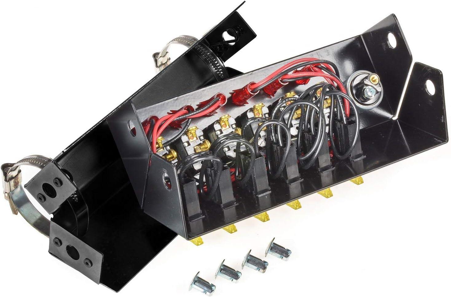 Powder Coat Black 2 Bracket Steel w// 2 GREEN LED toggle switches Truck