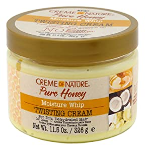 Creme Of Nature Pure Honey Twisting Cream 11.5 Ounce Jar (340ml) (3 Pack)