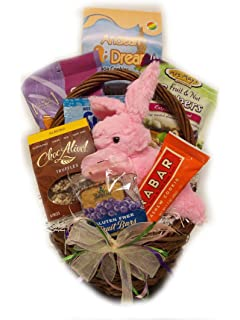 Amazon moo free easter hamper with bunny basket gluten free vegan easter basket by well baskets negle Gallery