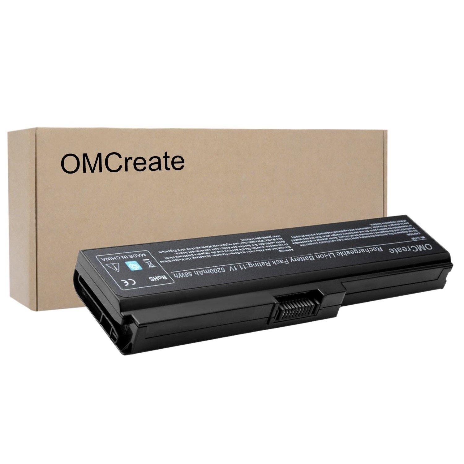OMCreate New Laptop Battery for Toshiba PA3817U-1BRS PA3819U-1BRS Toshiba Satellite C655 L600 L675 L675D L700 L745 L750 L750D L755 L755D M640 M645 P745 Series