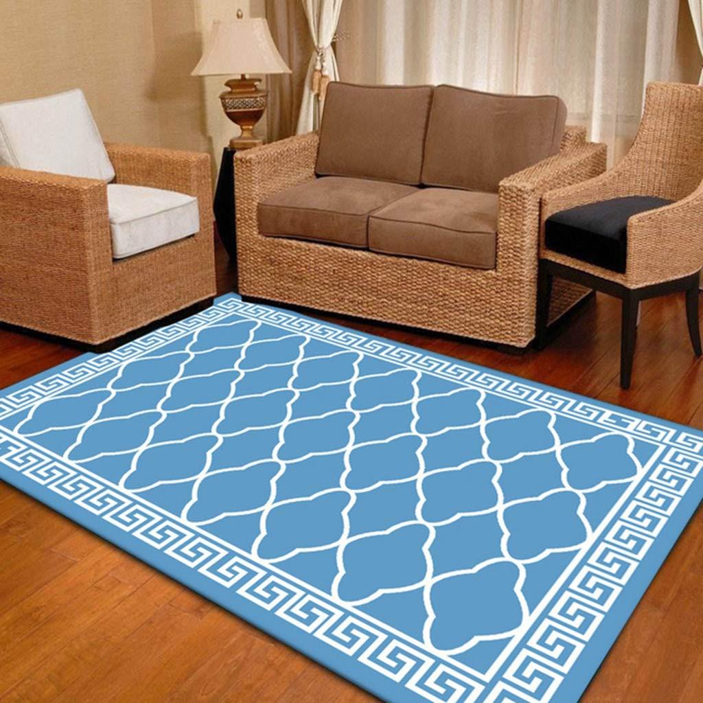 Non-Slip Home Area Decorative Carpet Classic Geometric Stripe Rug for Living Room Bedroom 1.3ftx1.96ft
