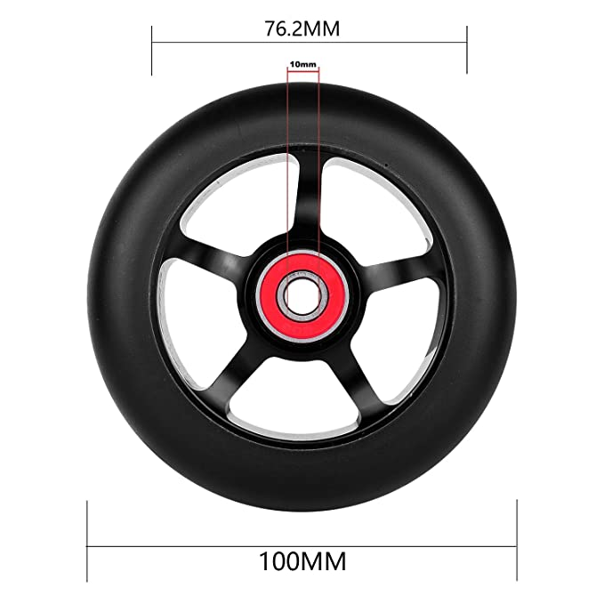 Amazon.com: 2pcs rueda de 100 mm Pro – Patinete Scooter de ...
