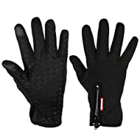 Expower Touch Screen Gloves Windproof Waterproof Cold Proof Thermal Mittens Outdoor Cycling Hunting Climbing Sports Bicycle with Touchscreen Function for Smartphones, Suitable for Autumn, Spring, Early Winter
