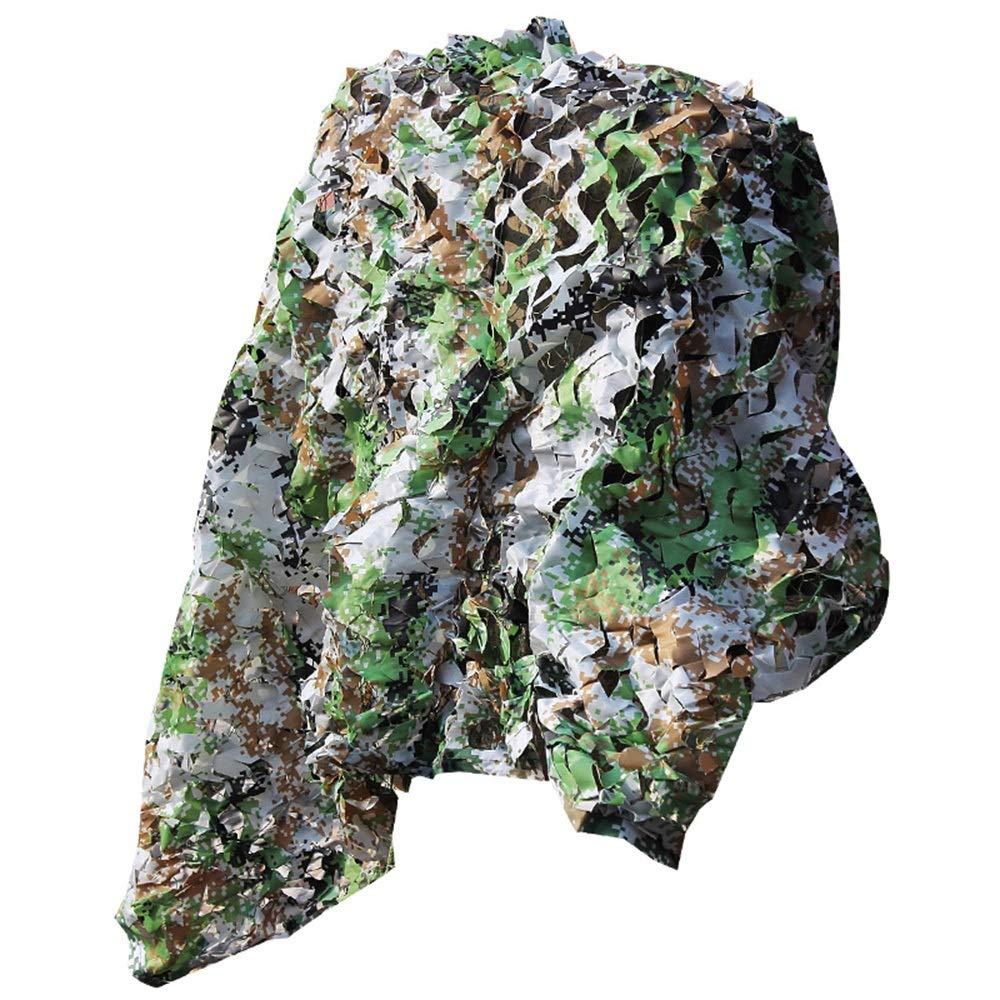 XRXY 日焼け止めシェードタープ 屋外防空迷彩ネット、緑化装飾ジャングル迷彩ネットパティオルーフカー絶縁遮光網 シェーディングクロス (Size : 6m x 8m)  6m x 8m