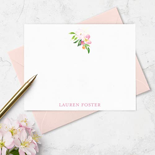Amazon Com Personalized Note Cards Stationery Set With Envelopes