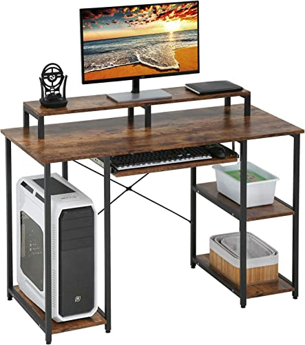 Computer Desk Home Office Desk 46 inches Gaming Writing Desk Student Girl Kids Study Desk Ergonomic Table Workstation - the best home office desk for the money