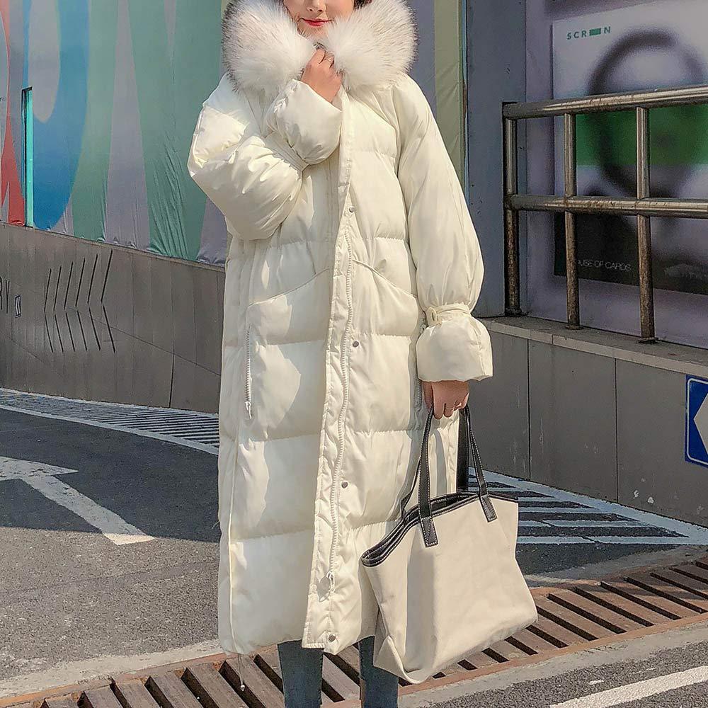Mambain Cappotti Piumino Donna Inverno Giubbotto Cappotto Donna Lungo Caldo Elegante Pesante con Cappuccio Parka Donna Taglie Forti Manica Lungo Antivento Giacche Giacca Imbottito