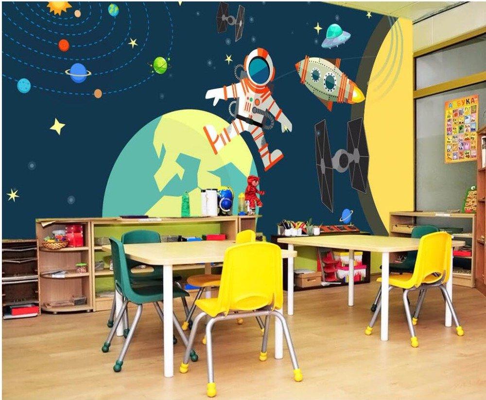 LWCX Custom Mural Photo 3D Wallpaper Cartoon Star Planet Moon ...
