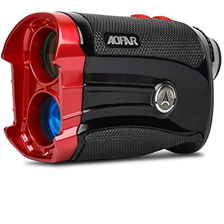 AOFAR Golf Rangefinder with Slope 600 Yards Flag Locking with Pulse Vibration Laser Range Finder 6X 25mm Waterproof, Carrying Case, Free Battery, Gift Packaging