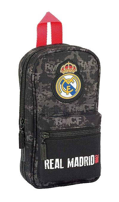 Real Madrid CF- Plumier con Accesorios, Color Negro (SAFTA 411924747)