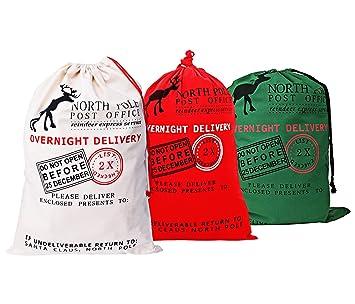 Amazon.com: KEFAN - Bolso de Navidad con cordones para ...