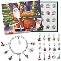 Advent Calendar 2020 Christmas Countdown Calendar - Christmas Themed DIY Charm Bracelet Making Kit for Girls , Jewelry…