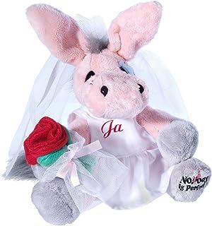 Heunec 681576 My Little Murphy - Burro de peluche vestido de novia (21 cm)