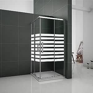 80x80x195cm Mamparas de Ducha Doble Corredera Cristal Serigrafiado 6mm: Amazon.es: Bricolaje y herramientas