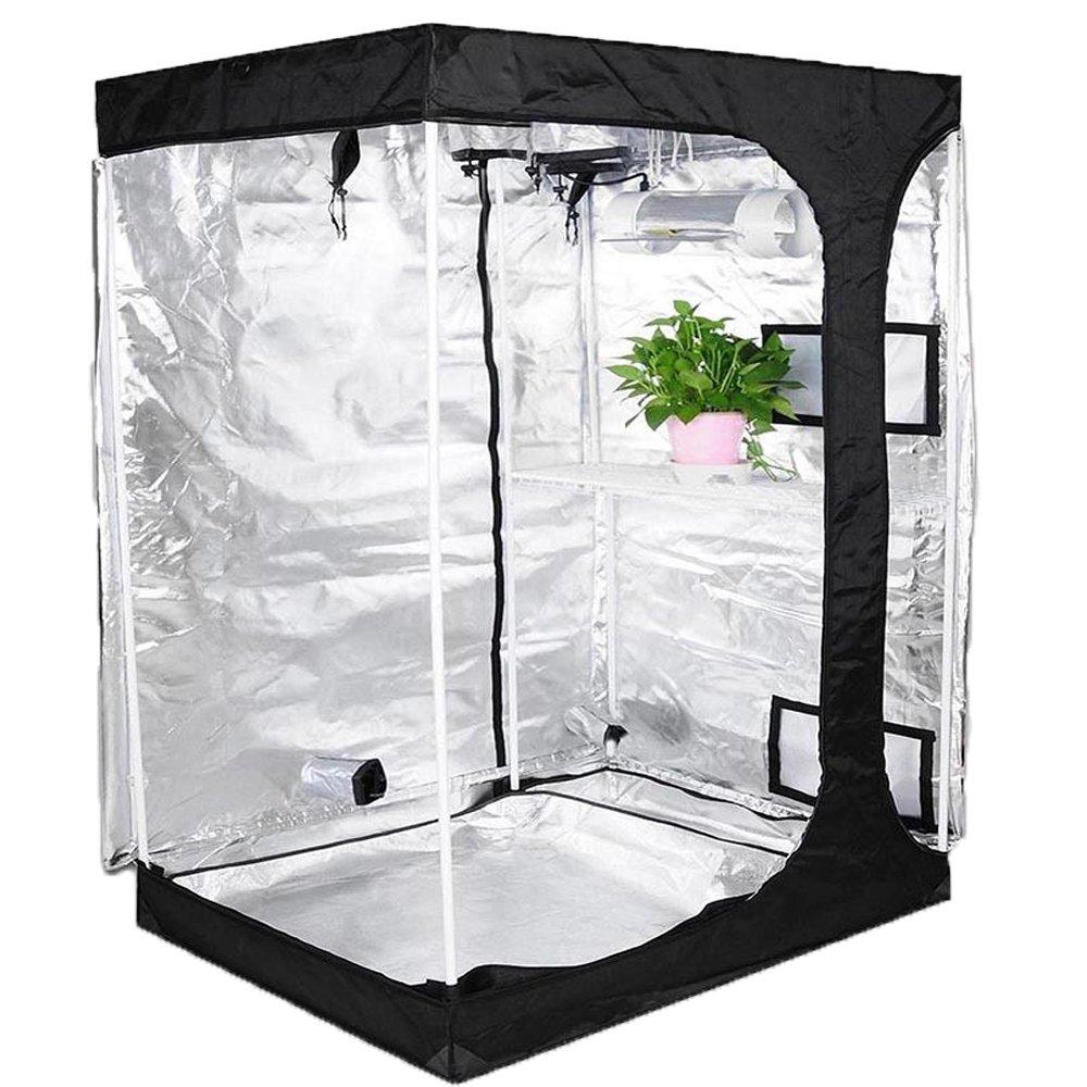TopoLite 48x36x72 2-in-1 Indoor Grow Tent Dark Room Propagation and Flower 600D Reflective Diamond Mylar Hydroponic Growing Plant