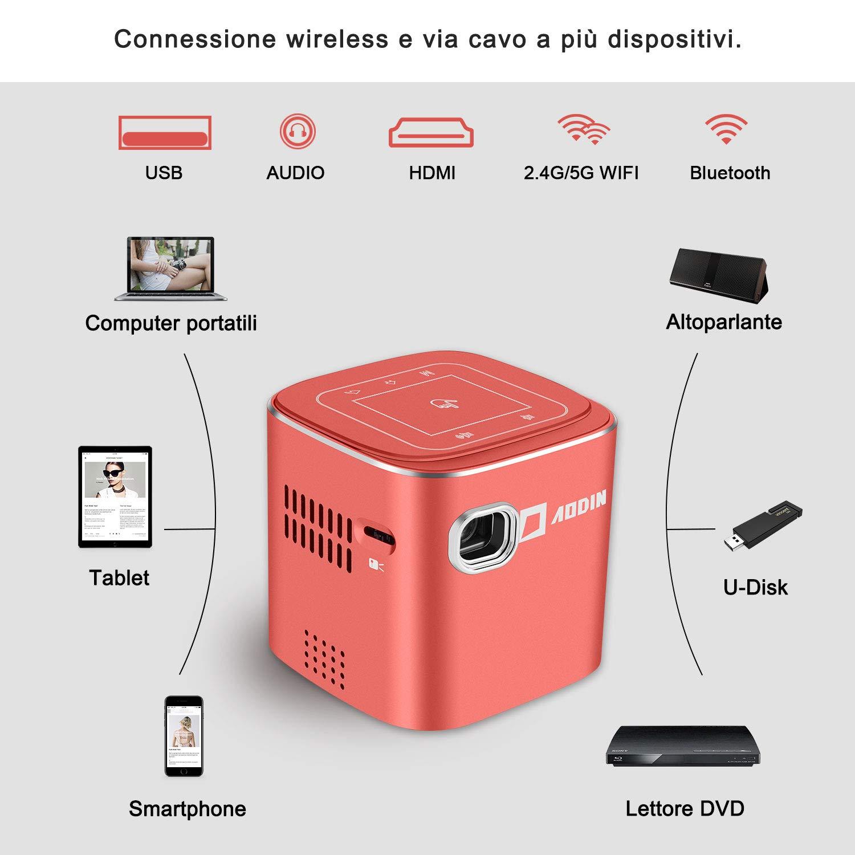 AODIN Proyector portátil de Bolsillo DLP LED Fusion-Red: Amazon.es ...