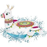 Mondo-16827 Hinchable Llama Jumbo 115 cm, Color Blanco