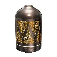 TaoTronics Aroma Diffuser 100 ml Diffuser Duftlampe Luftbefeuchter aus Edelstahl mit 7 LED Farben